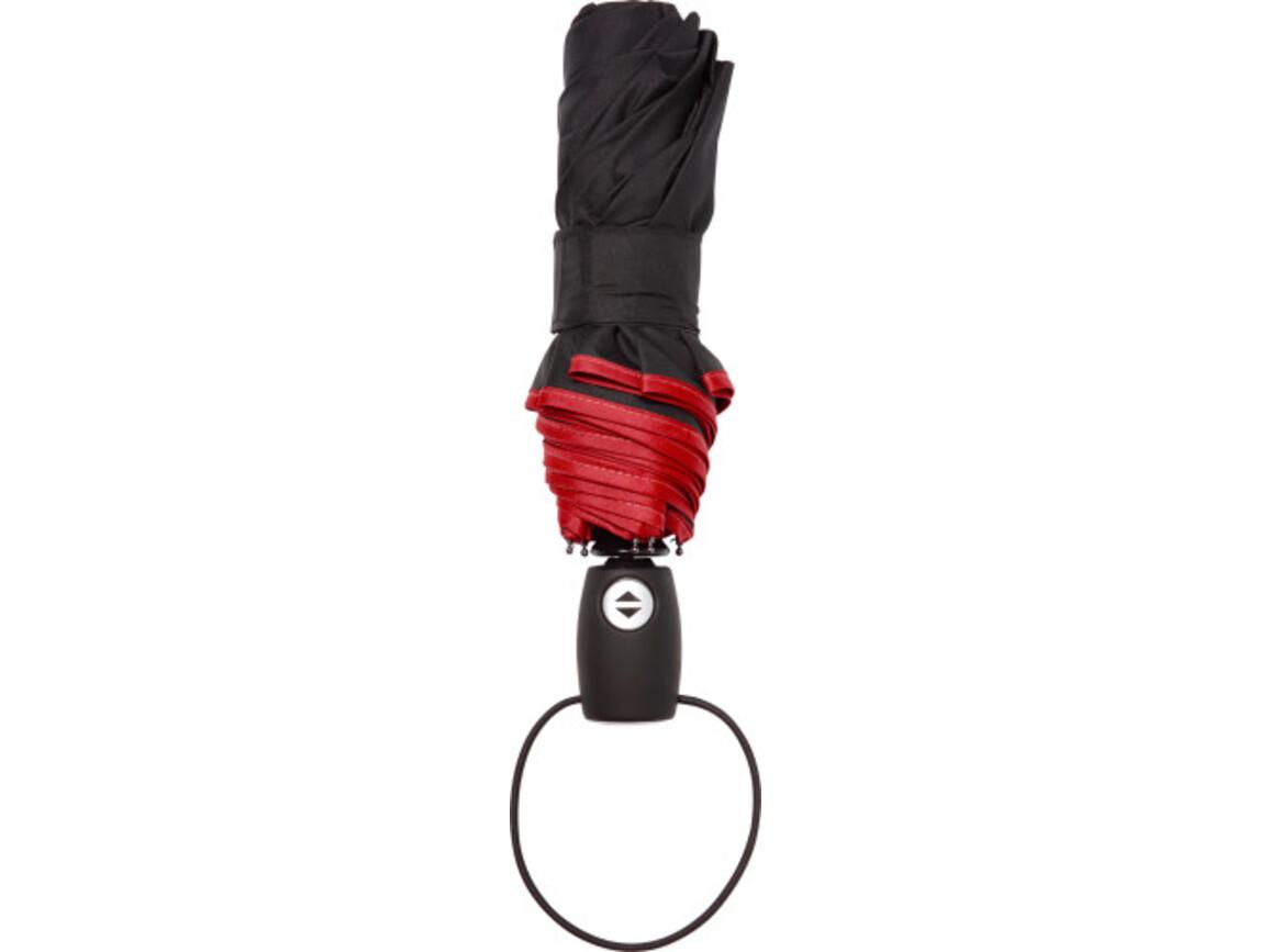 Automatik Taschenschirm 'Retro' aus Pongee-Polyester – Rot bedrucken, Art.-Nr. 008999999_4939