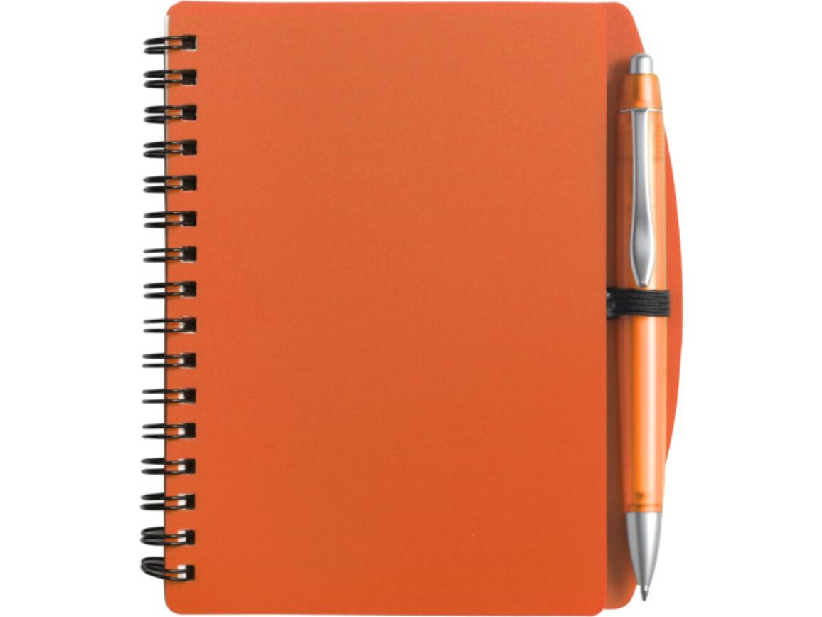 Notizbuch 'Spektrum' aus Kunststoff – Orange bedrucken, Art.-Nr. 007999999_5139