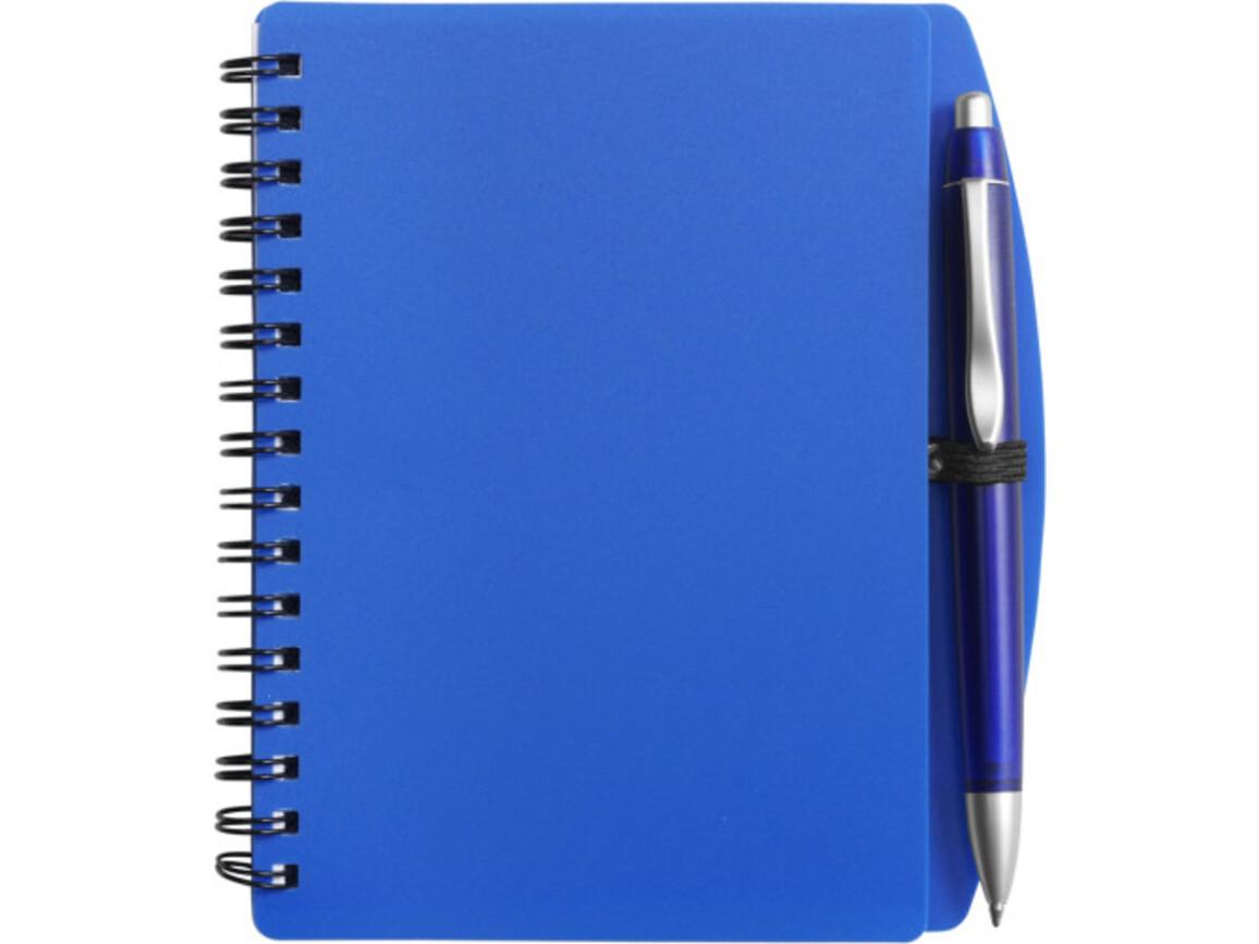 Notizbuch 'Spektrum' aus Kunststoff – Blau bedrucken, Art.-Nr. 005999999_5139