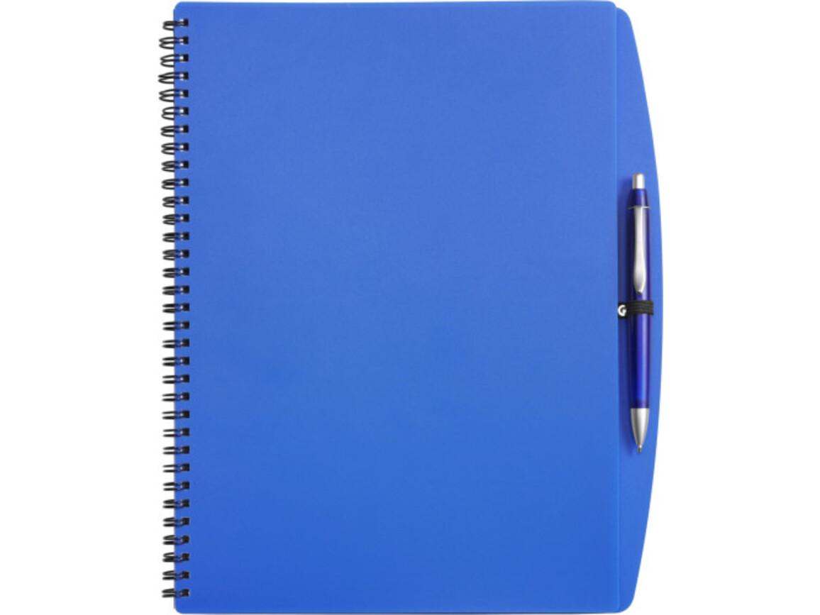 Notizbuch 'Spektrum' aus Kunststoff – Blau bedrucken, Art.-Nr. 005999999_5141