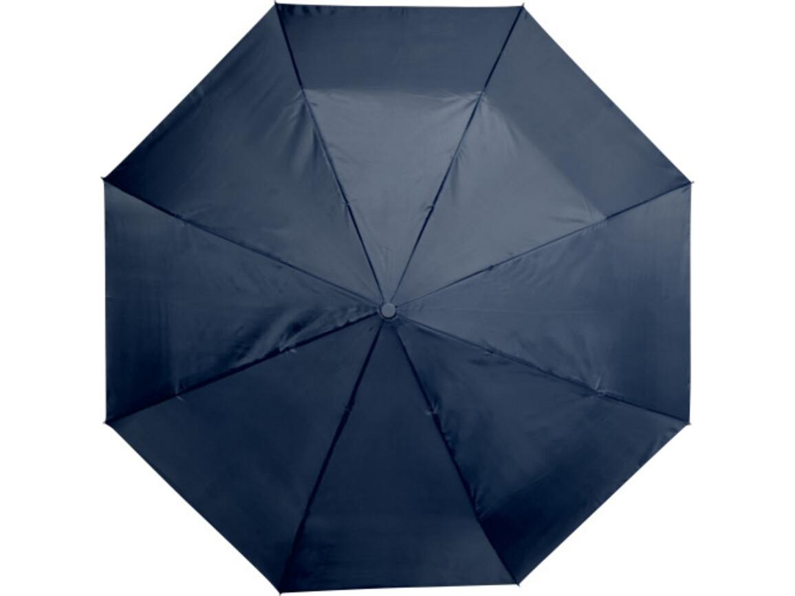 Automatik Taschenschirm 'Star' aus Polyester – Blau bedrucken, Art.-Nr. 005999999_5215