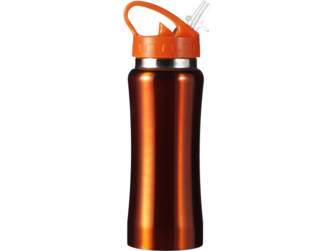 Trinkflasche 'Glauchau' aus Edelstahl – Orange bedrucken, Art.-Nr. 007999999_5233