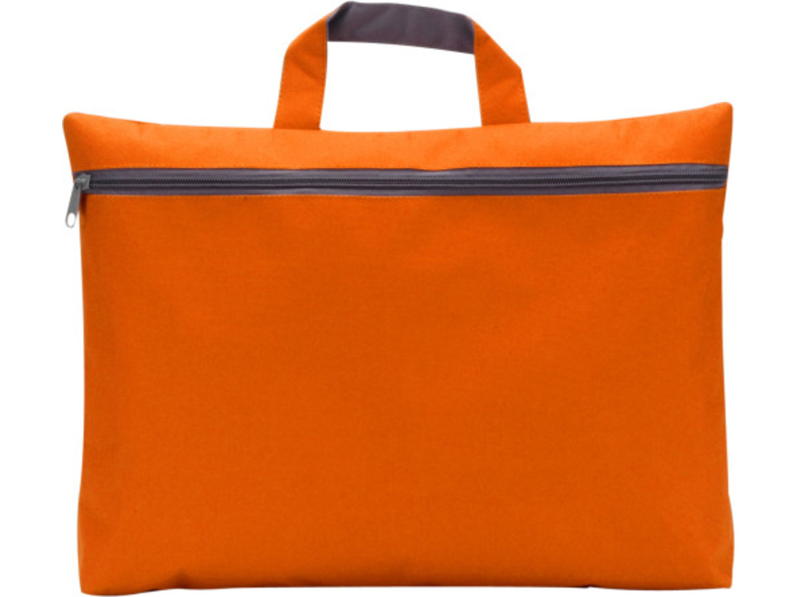 Dokumententasche 'Nassau' aus Polyester – Orange bedrucken, Art.-Nr. 007999999_5235