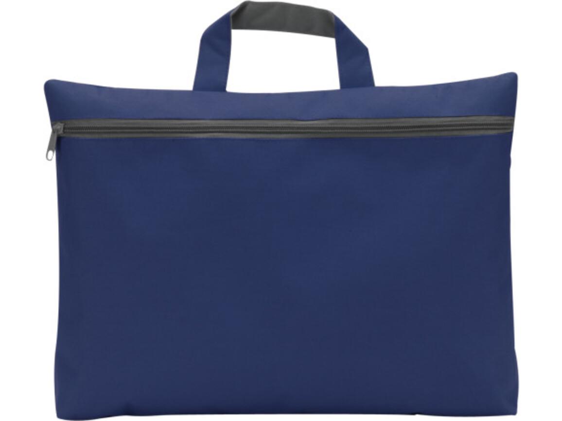 Dokumententasche 'Nassau' aus Polyester – Blau bedrucken, Art.-Nr. 005999999_5235