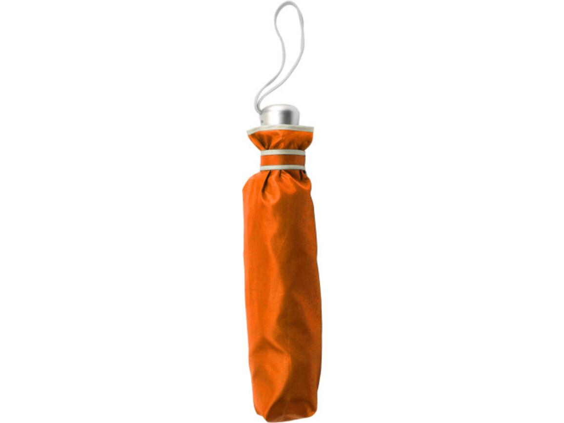 Automatik Taschenschirm 'City' aus Polyester – Orange bedrucken, Art.-Nr. 007999999_5247