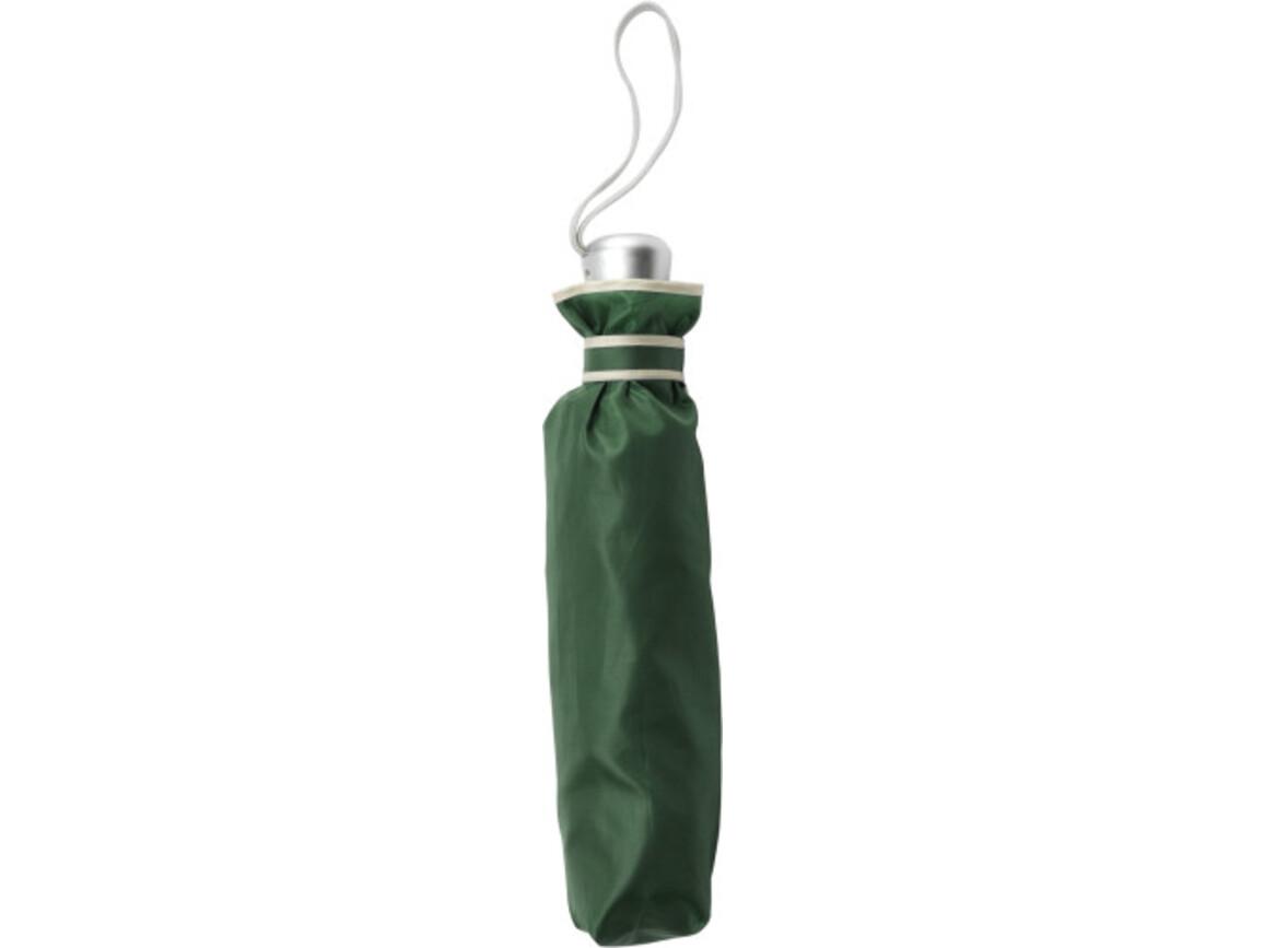 Automatik Taschenschirm 'City' aus Polyester – Grün bedrucken, Art.-Nr. 004999999_5247