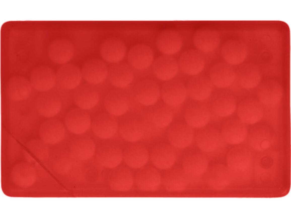 Pfefferminzbonbons 'Quadro' aus Kunststoff – Rot bedrucken, Art.-Nr. 008999999_5251