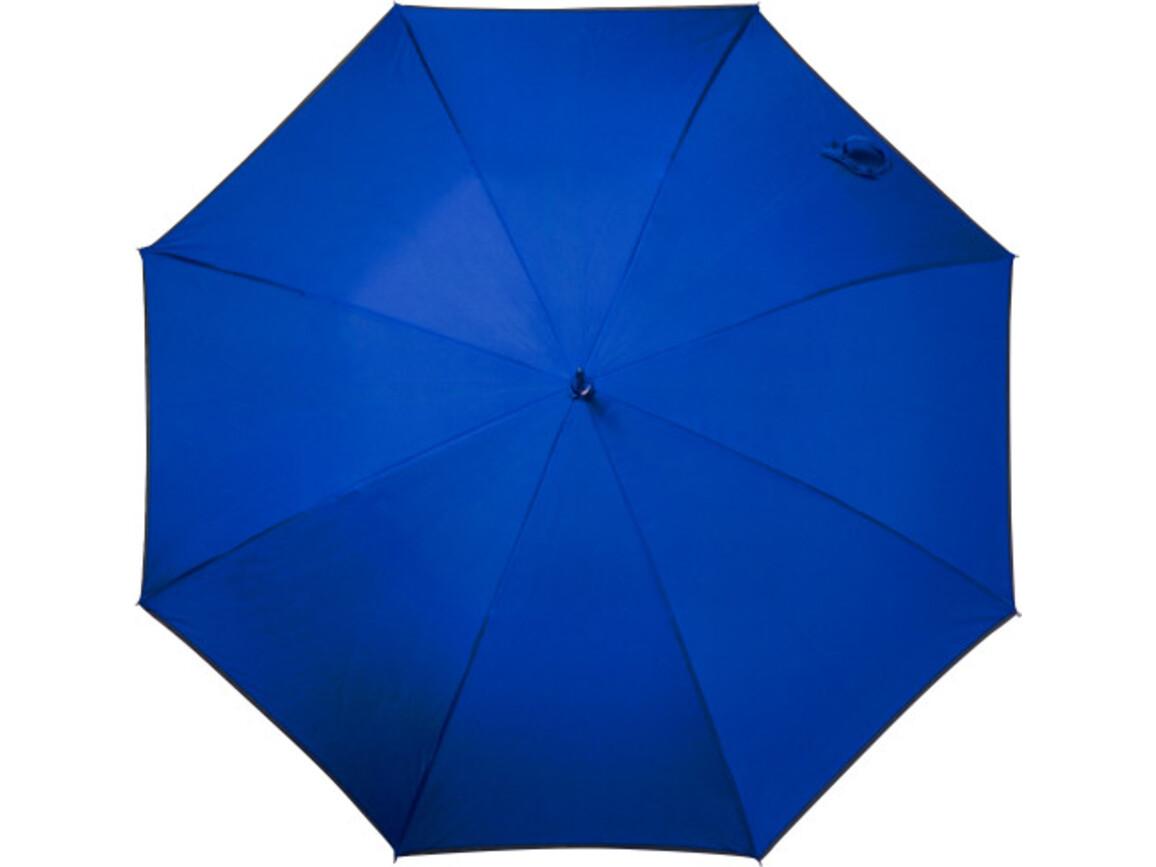 Automatik Stockschirm 'Elements' aus Pongee-Polyester – Blau bedrucken, Art.-Nr. 005999999_5288