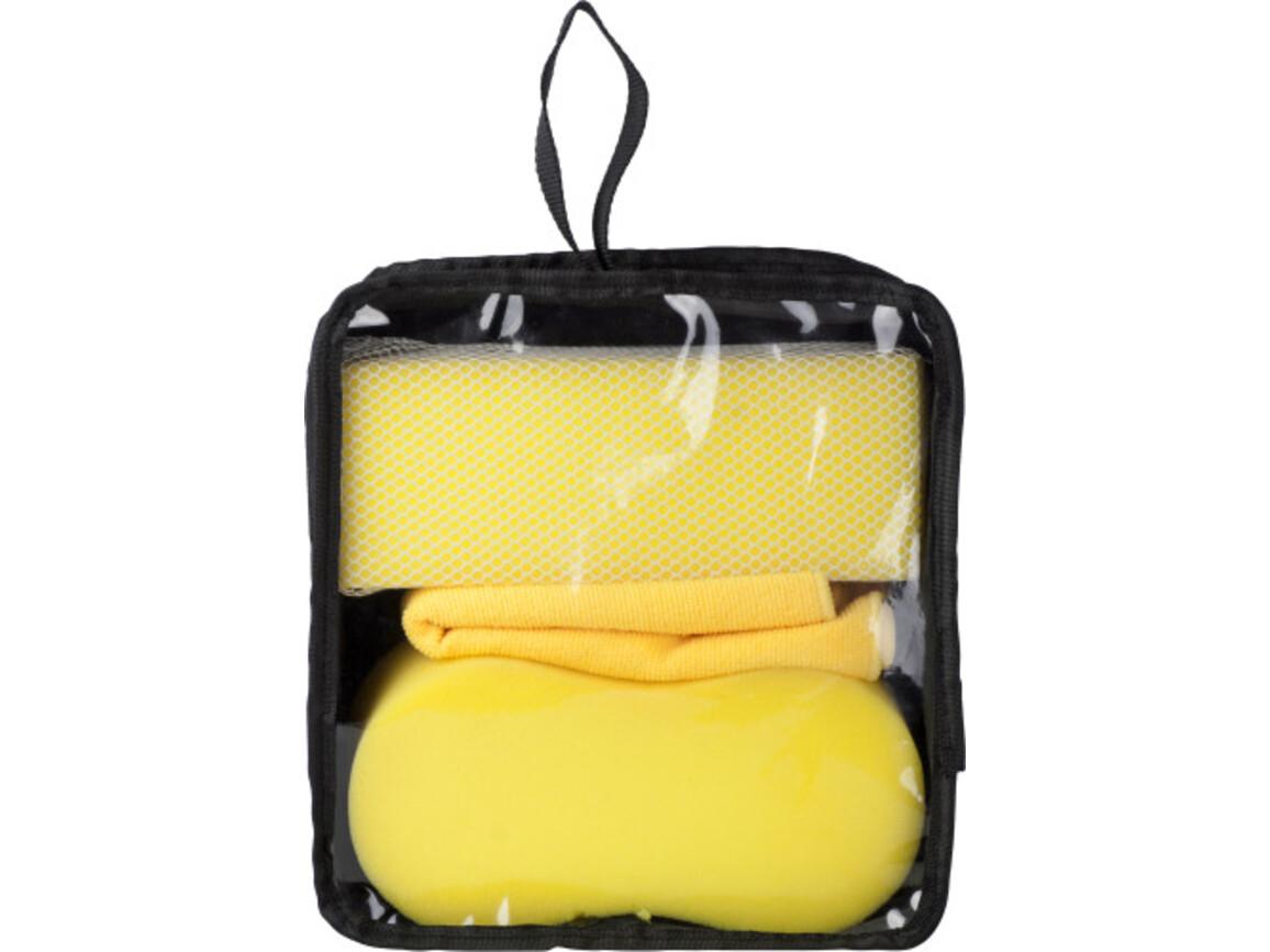 Autoschwamm-Set 'Racing' – Gelb bedrucken, Art.-Nr. 006999999_5300