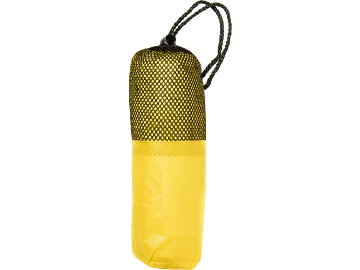Poncho 'Dry' aus PEVA – Gelb bedrucken, Art.-Nr. 006999999_5308