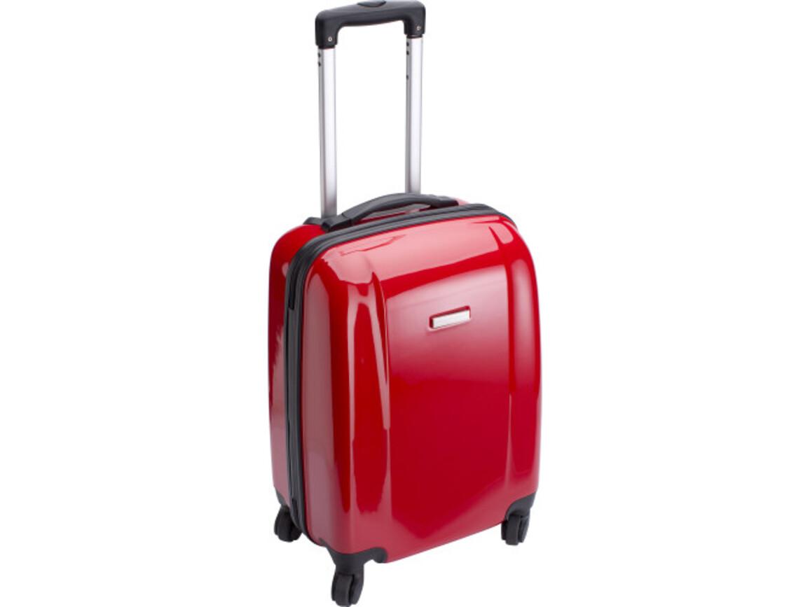 Trolley 'Adventure' aus ABS-Kunststoff – Rot bedrucken, Art.-Nr. 008999999_5392