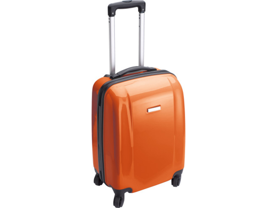 Trolley 'Adventure' aus ABS-Kunststoff – Orange bedrucken, Art.-Nr. 007999999_5392