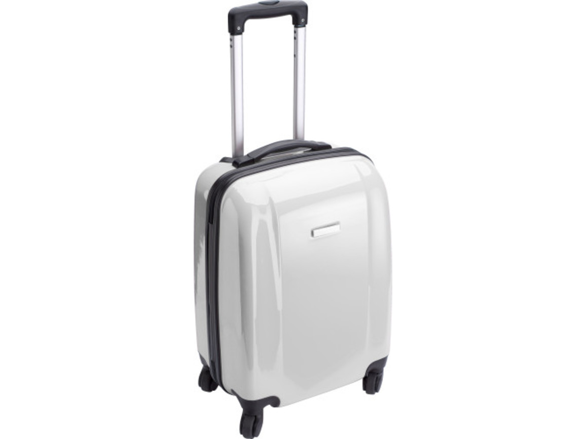 Trolley 'Adventure' aus ABS-Kunststoff – Weiß bedrucken, Art.-Nr. 002999999_5392