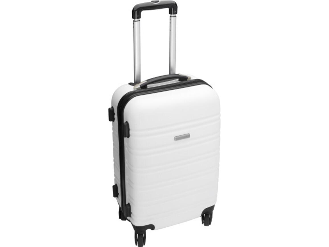 Trolley 'Gate' aus ABS-Kunststoff – Weiß bedrucken, Art.-Nr. 002999999_5393