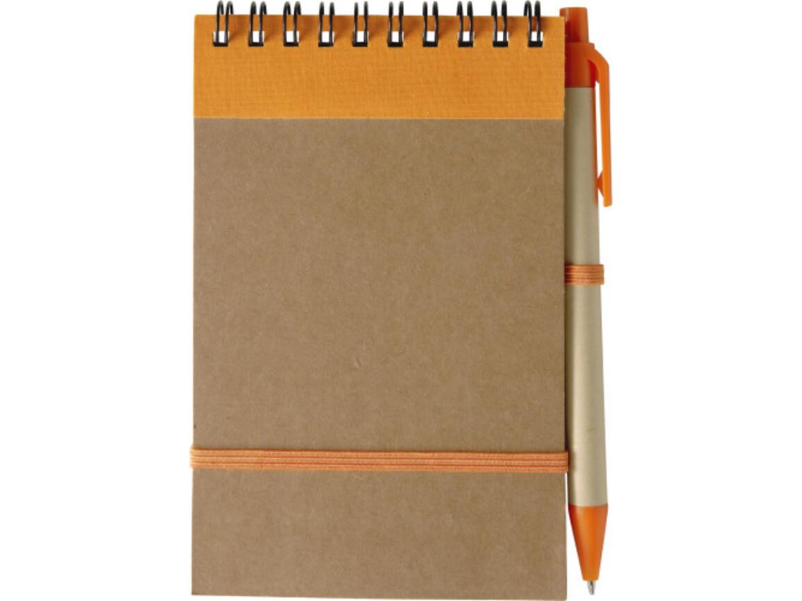 Notizbuch 'Pocket' aus recyceltem Karton – Orange bedrucken, Art.-Nr. 007999999_5410