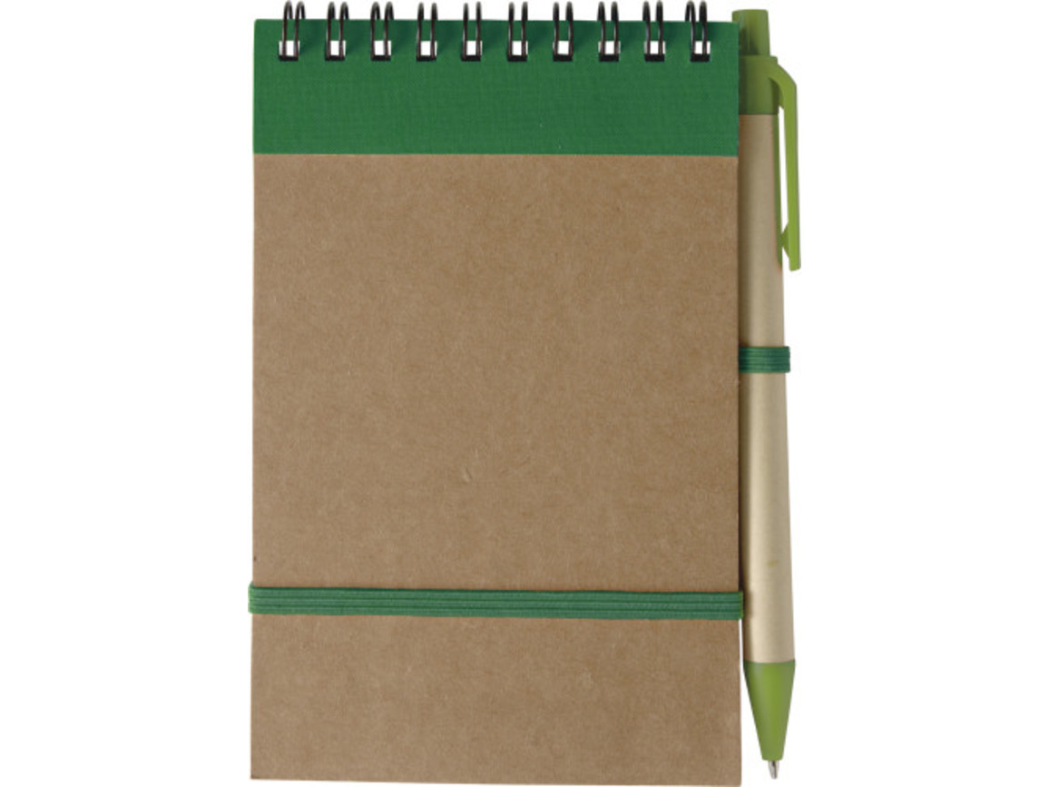 Notizbuch 'Pocket' aus recyceltem Karton – Grün bedrucken, Art.-Nr. 004999999_5410