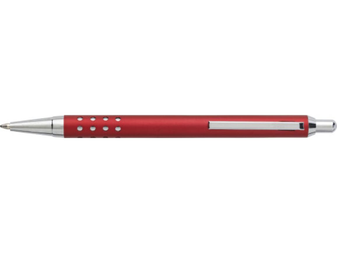 Kugelschreiber 'Seattle' aus Aluminium – Rot bedrucken, Art.-Nr. 008999999_5466