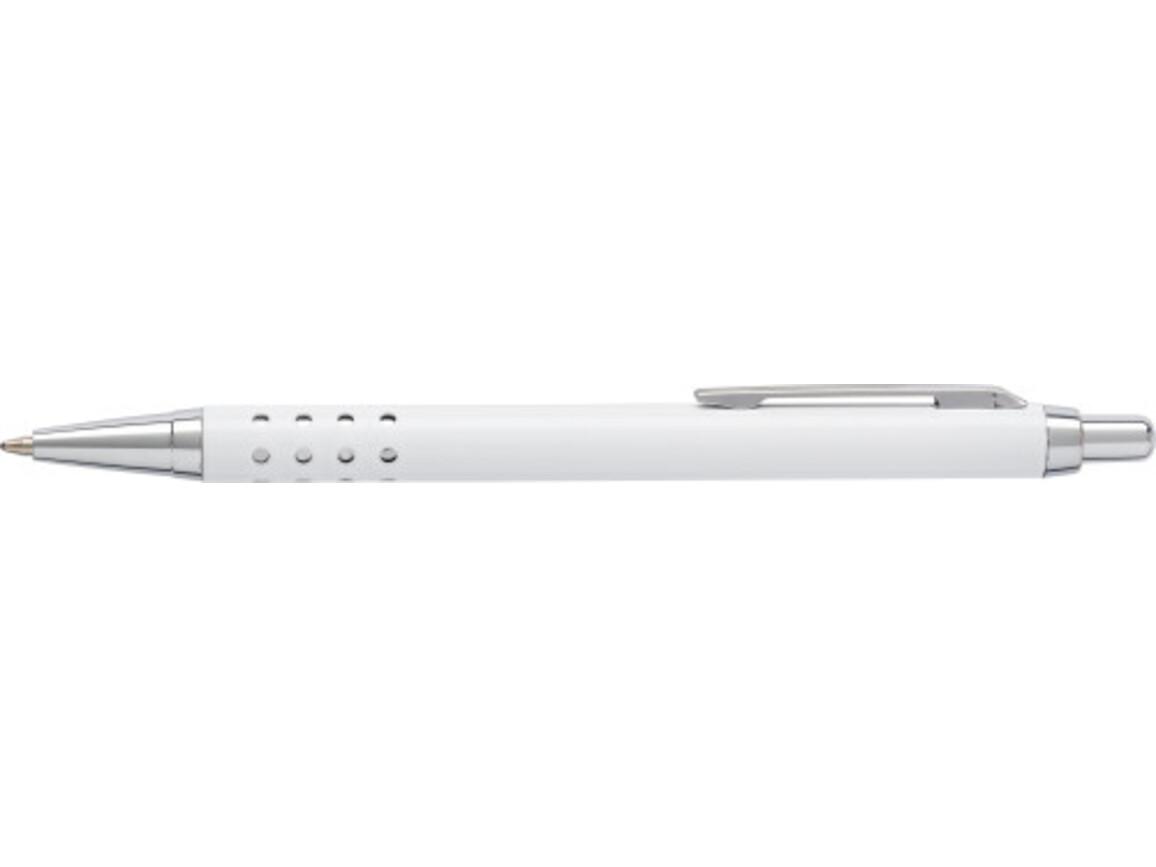 Kugelschreiber 'Seattle' aus Aluminium – Weiß bedrucken, Art.-Nr. 002999999_5466