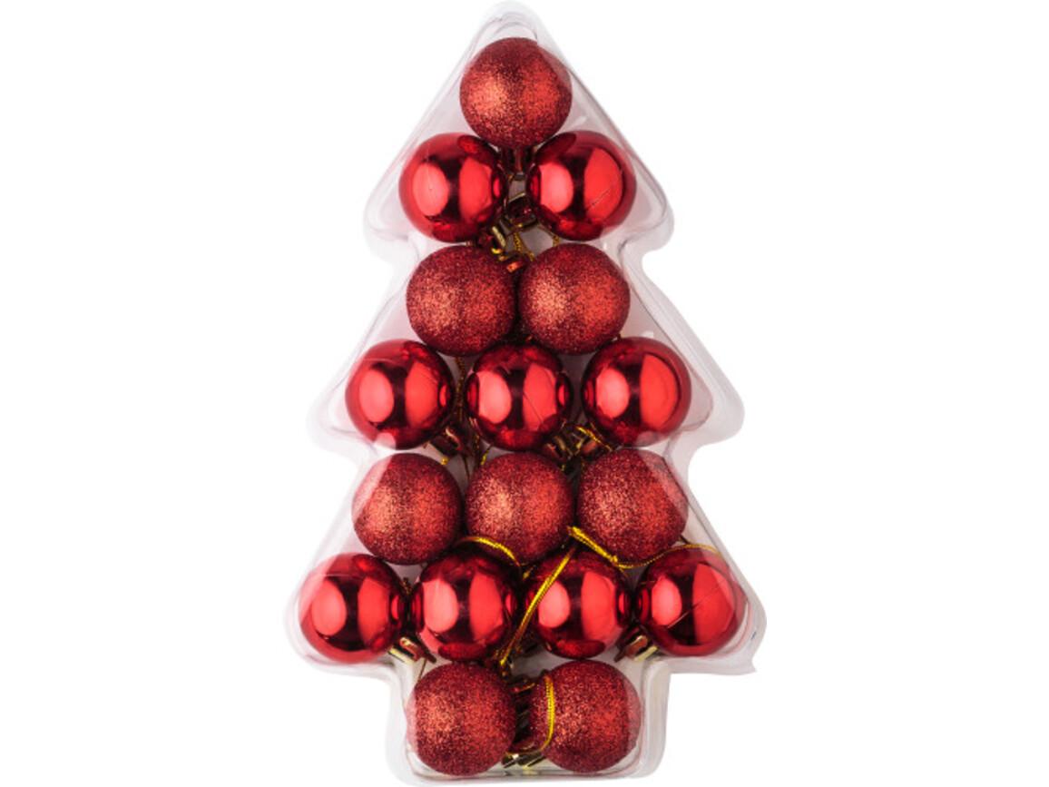 Weihnachtsbaumkugel-Set 'Shiny' – Rot bedrucken, Art.-Nr. 008999999_5507