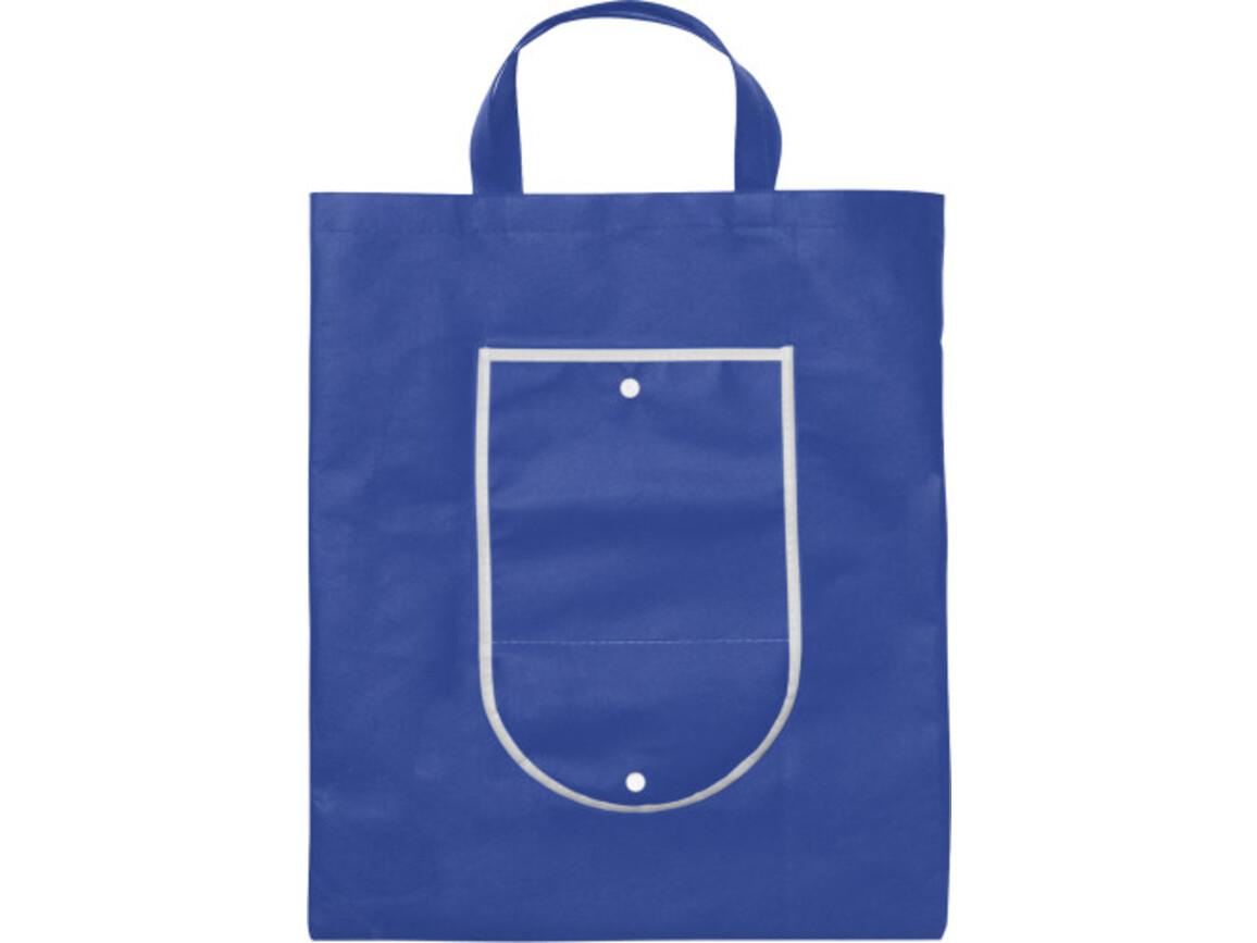 Einkaufstasche 'Wagon' aus Non-Woven – Blau bedrucken, Art.-Nr. 005999999_5619