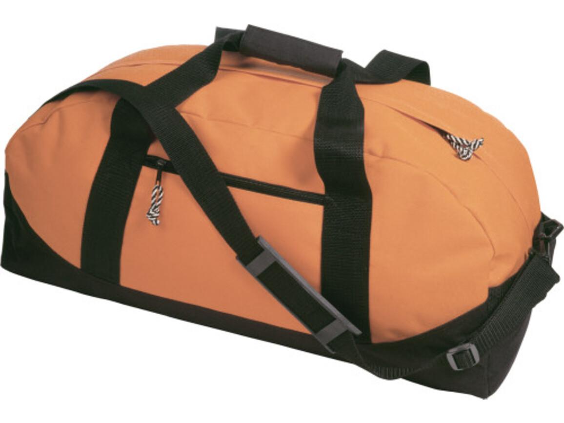 Sport-/Reisetasche 'Fitness' aus Polyester – Orange bedrucken, Art.-Nr. 007999999_5688