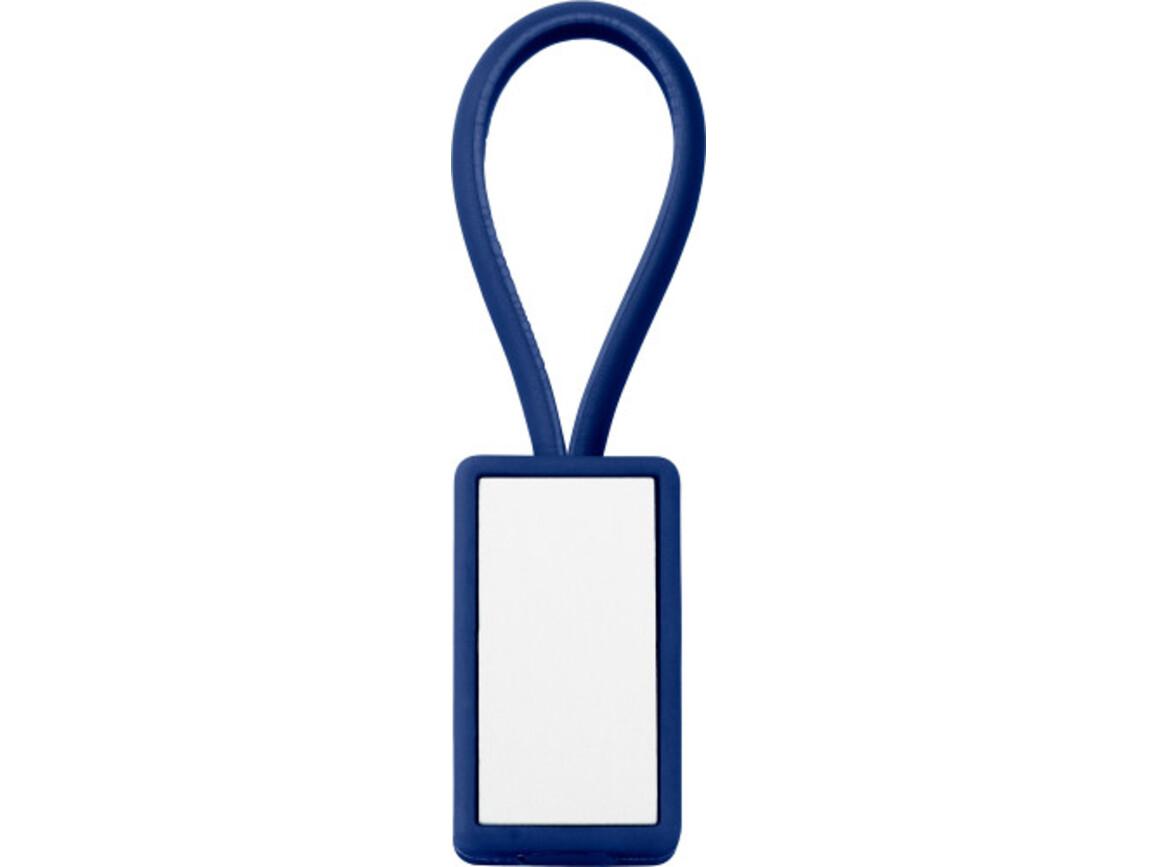 Schlüsselanhänger 'Color-Line' aus Kunststoff – Blau bedrucken, Art.-Nr. 005999999_5717