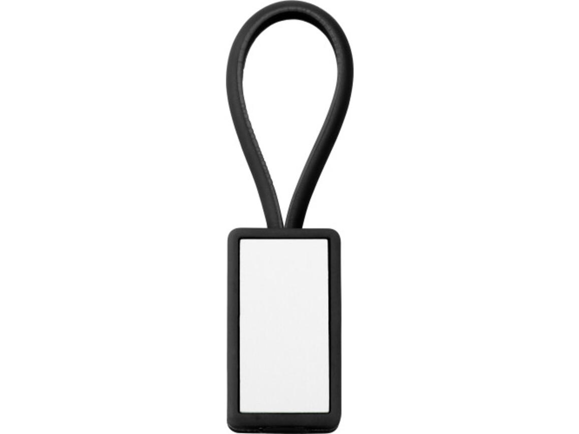 Schlüsselanhänger 'Color-Line' aus Kunststoff – Schwarz bedrucken, Art.-Nr. 001999999_5717