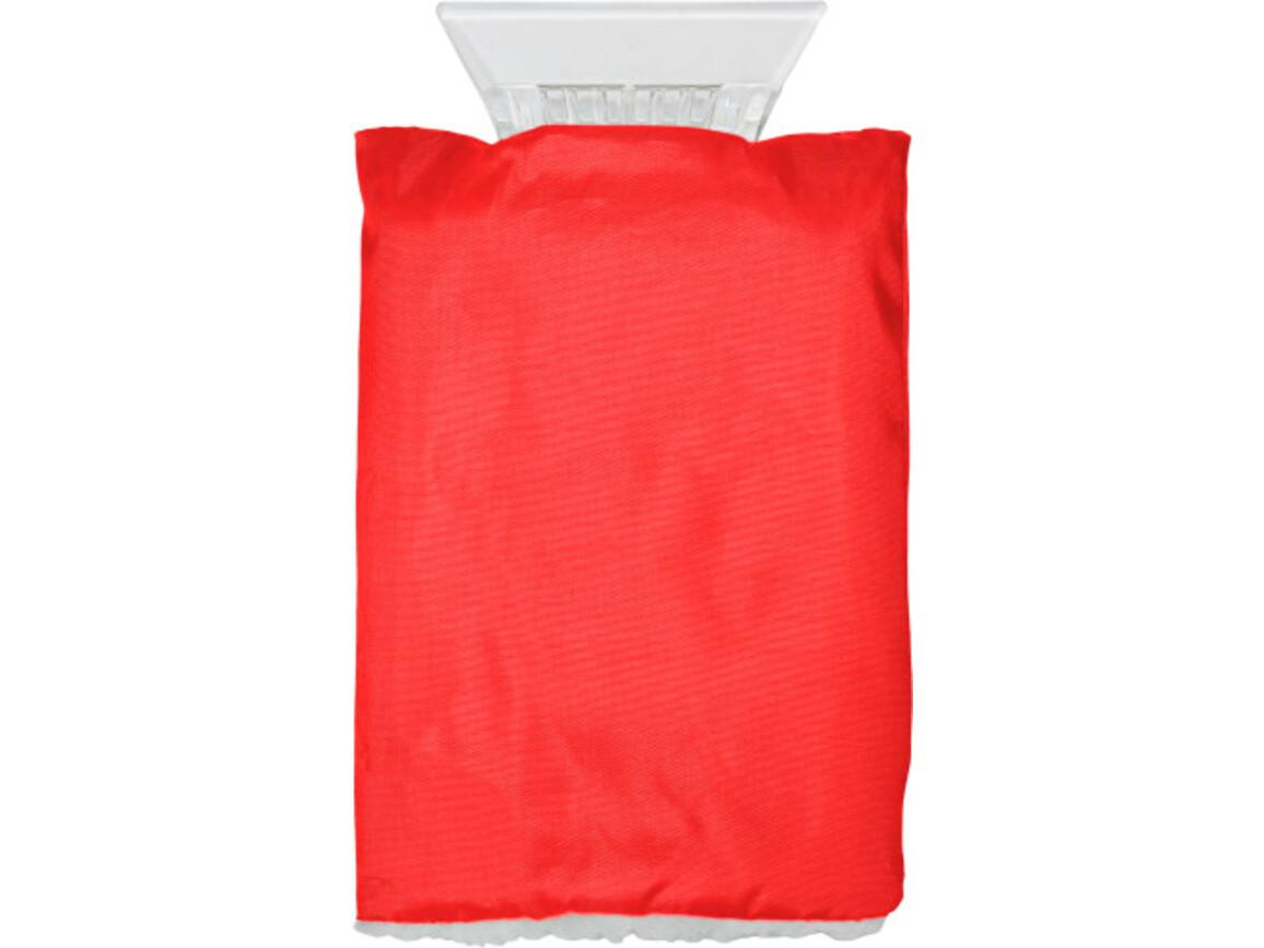 Eiskratzer 'Jersey' aus Kunststoff – Rot bedrucken, Art.-Nr. 008999999_5817