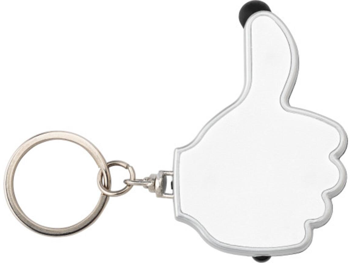Schlüsselanhänger 'Like it' aus ABS-Kunststoff – Weiß bedrucken, Art.-Nr. 002999999_5852