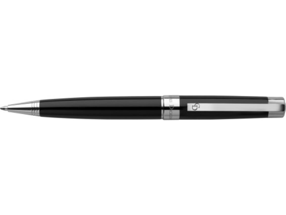 Charles Dickens Kugelschreiber 'Troja' aus Metall – Schwarz bedrucken, Art.-Nr. 001999999_5986