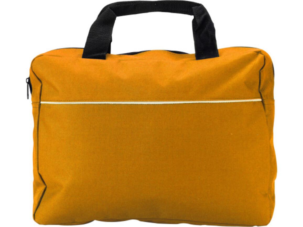 Dokumententasche 'Nassau' aus Polyester – Orange bedrucken, Art.-Nr. 007999999_6141