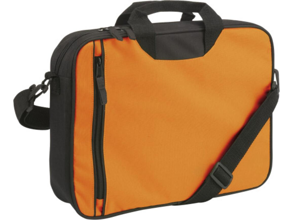 Dokumententasche 'Amsterdam' aus Polyester – Orange bedrucken, Art.-Nr. 007999999_6157