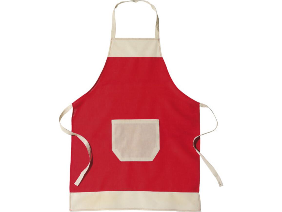 Küchen-Schürze 'Ottilie' aus Baumwolle – Rot bedrucken, Art.-Nr. 008999999_6198