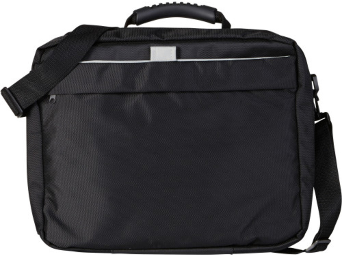 Laptoptasche/Rucksack 'Cambridge' aus Polyester – Schwarz bedrucken, Art.-Nr. 001999999_6209