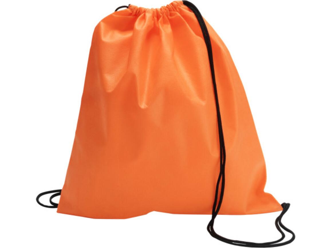 Schuh-/Rucksack (Turnbeutel) 'Modo' aus Non-Woven – Orange bedrucken, Art.-Nr. 007999999_6232