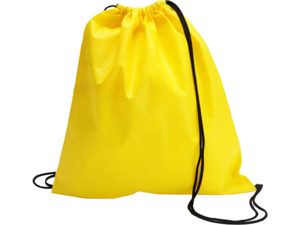 Schuh-/Rucksack (Turnbeutel) 'Modo' aus Non-Woven – Gelb bedrucken, Art.-Nr. 006999999_6232