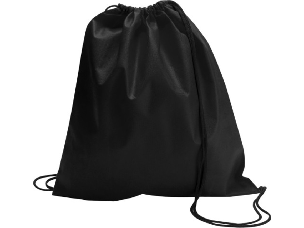 Schuh-/Rucksack (Turnbeutel) 'Modo' aus Non-Woven – Schwarz bedrucken, Art.-Nr. 001999999_6232