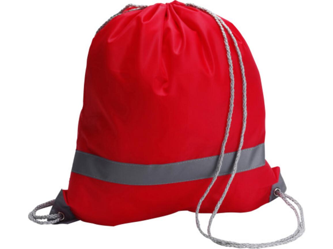 Schuh-/Rucksack 'Emergency' aus Polyester – Rot bedrucken, Art.-Nr. 008999999_6238
