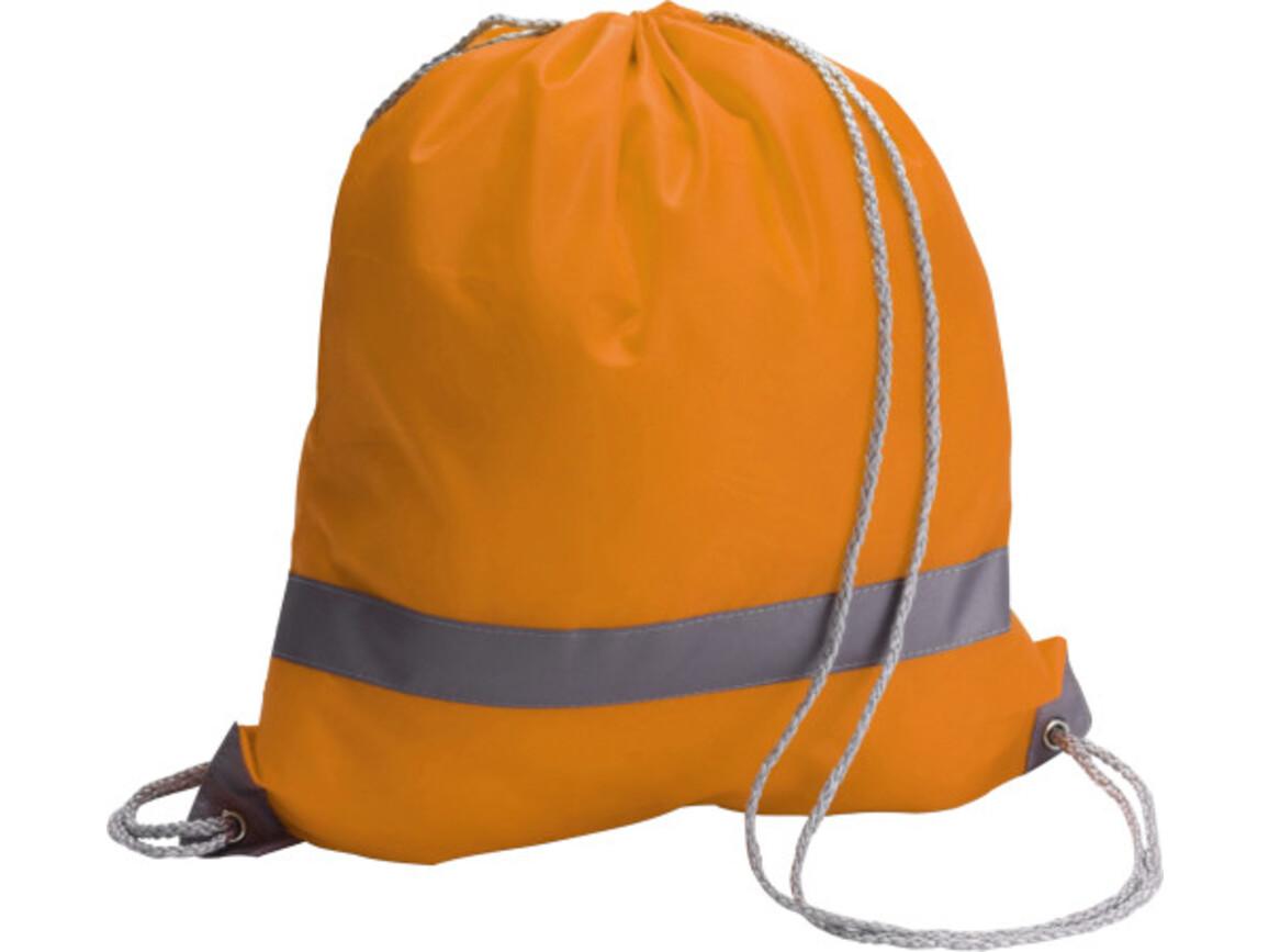 Schuh-/Rucksack 'Emergency' aus Polyester – Orange bedrucken, Art.-Nr. 007999999_6238