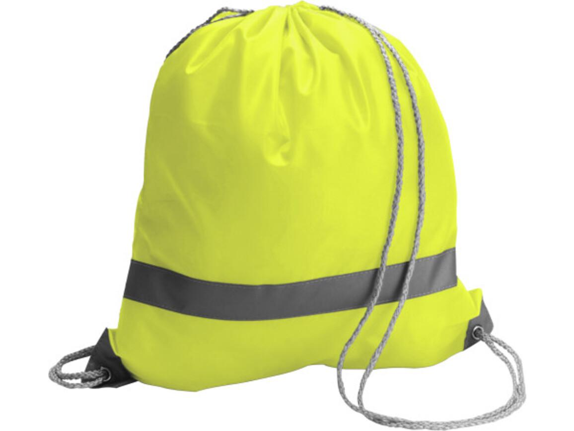 Schuh-/Rucksack 'Emergency' aus Polyester – Gelb bedrucken, Art.-Nr. 006999999_6238