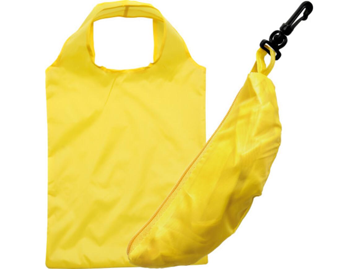 Einkaufstasche 'Fruits' aus Polyester – Gelb bedrucken, Art.-Nr. 006999999_6284