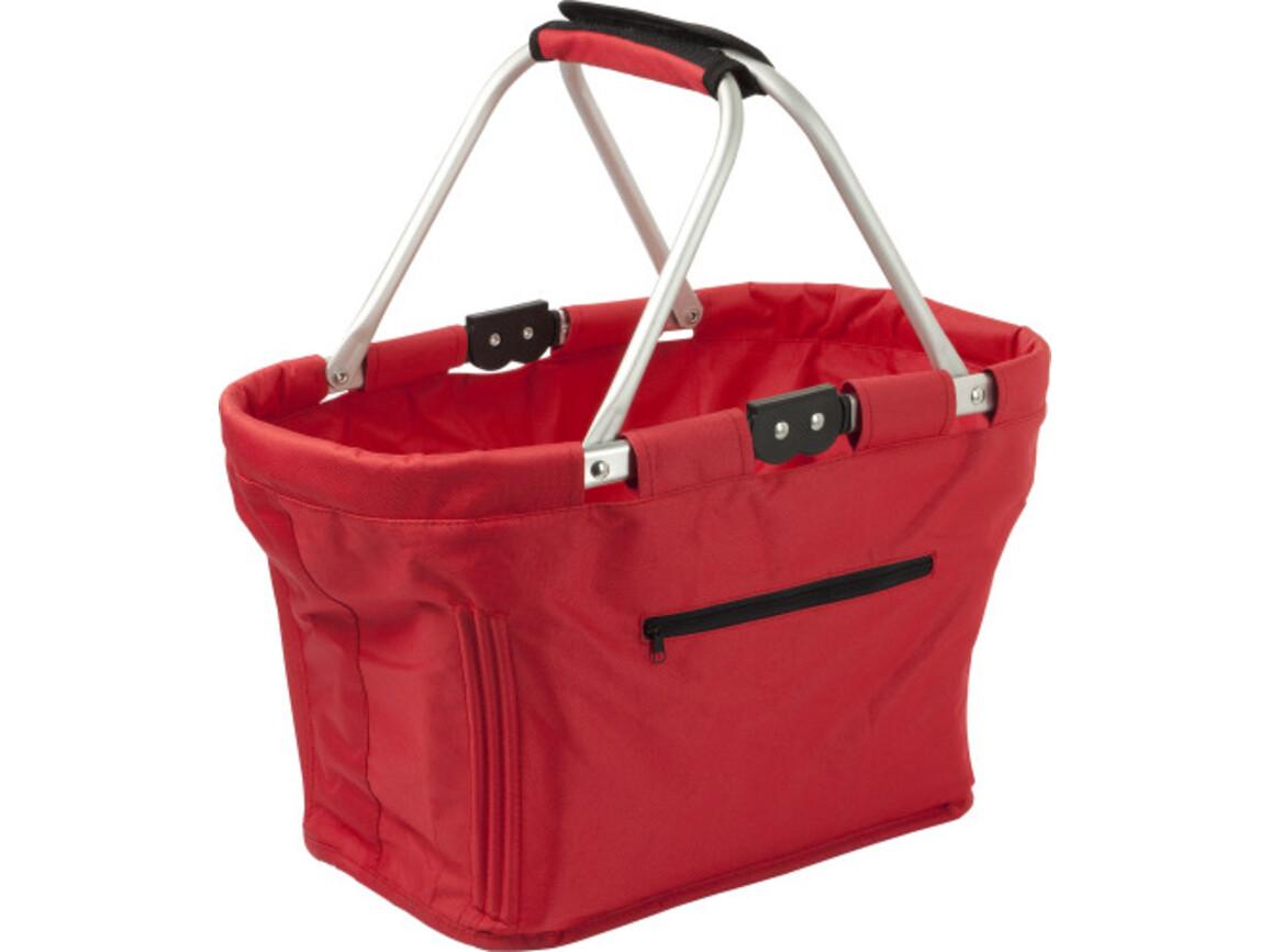 Einkaufskorb 'Maxi' aus Polyester – Rot bedrucken, Art.-Nr. 008999999_6304