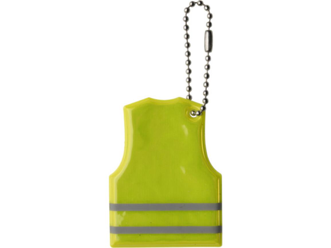 Schlüsselanhänger 'Warnweste' aus PVC – Gelb bedrucken, Art.-Nr. 006999999_6333