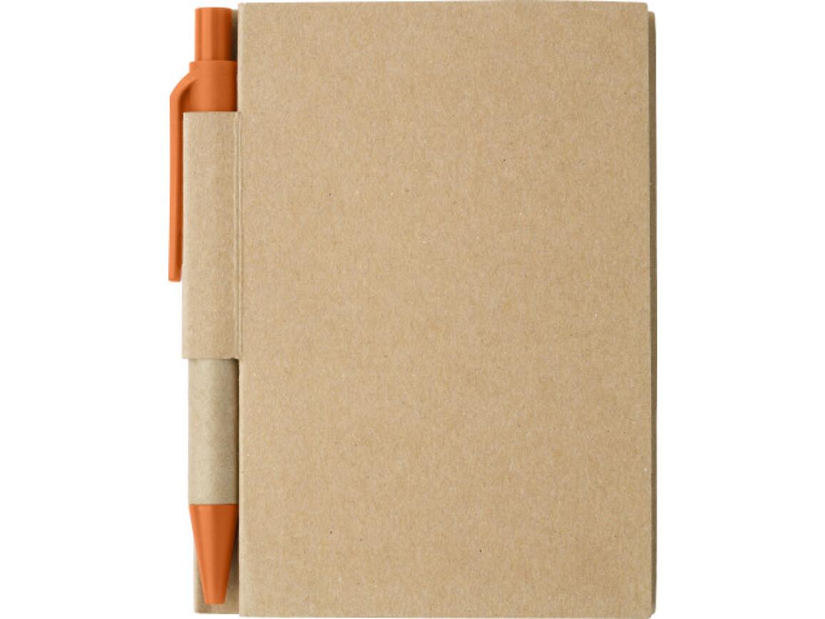 Notizbuch 'Circuit' aus Karton – Orange bedrucken, Art.-Nr. 007999999_6419