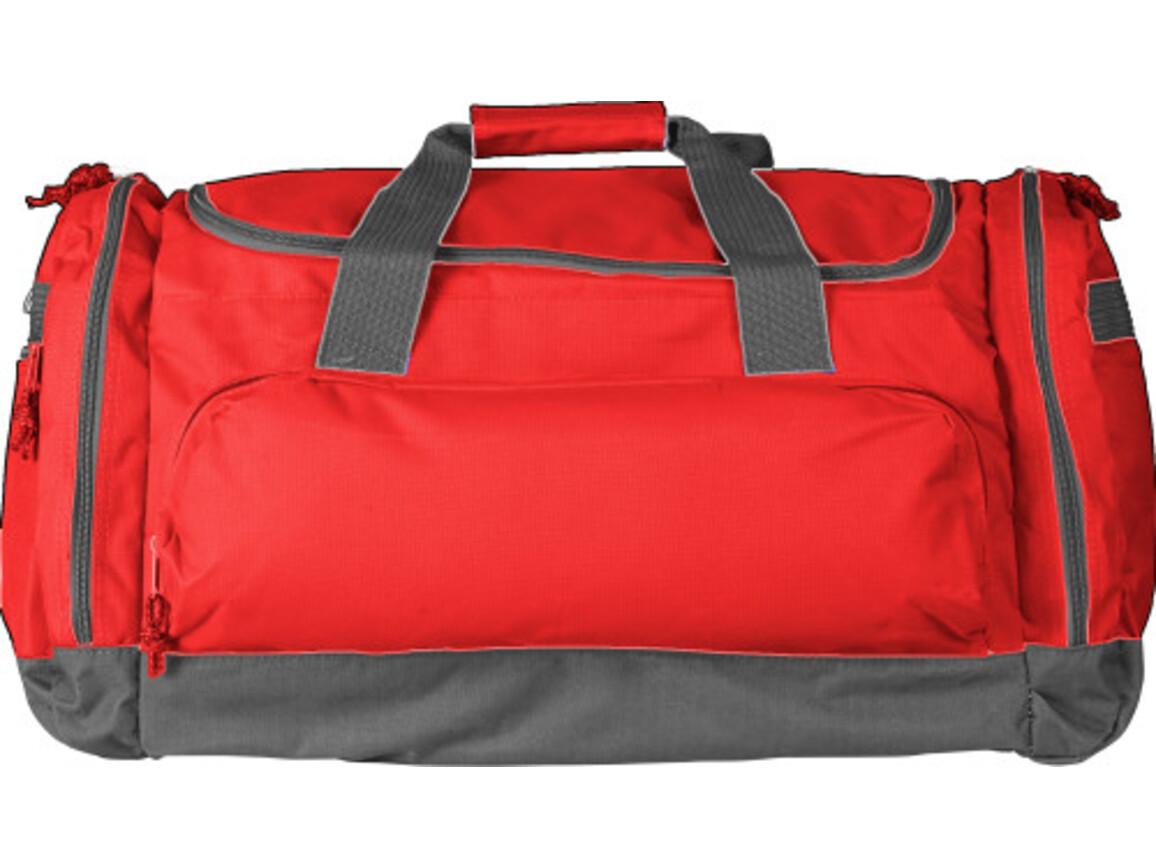 Sport-/Reisetasche 'Carribean' aus Polyester – Rot bedrucken, Art.-Nr. 008999999_6431