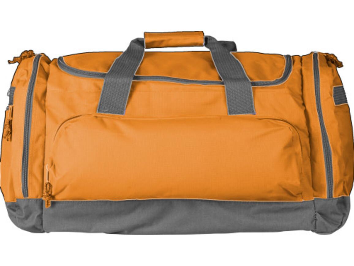 Sport-/Reisetasche 'Carribean' aus Polyester – Orange bedrucken, Art.-Nr. 007999999_6431