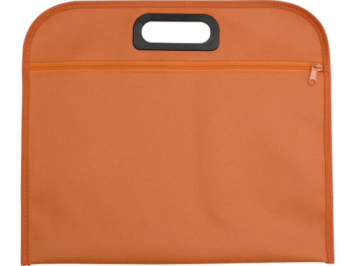 Dokumententasche 'Jamaika' aus Polyester – Orange bedrucken, Art.-Nr. 007999999_6451