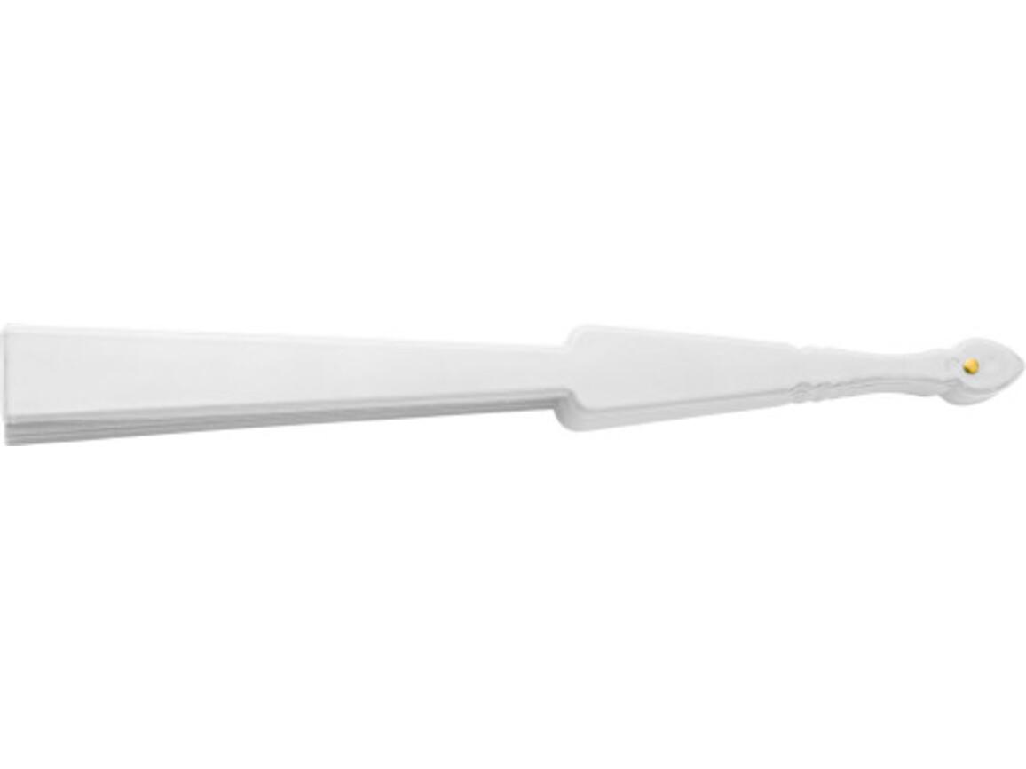 Fächer 'Color-Line' aus Kunststoff – Weiß bedrucken, Art.-Nr. 002999999_6510