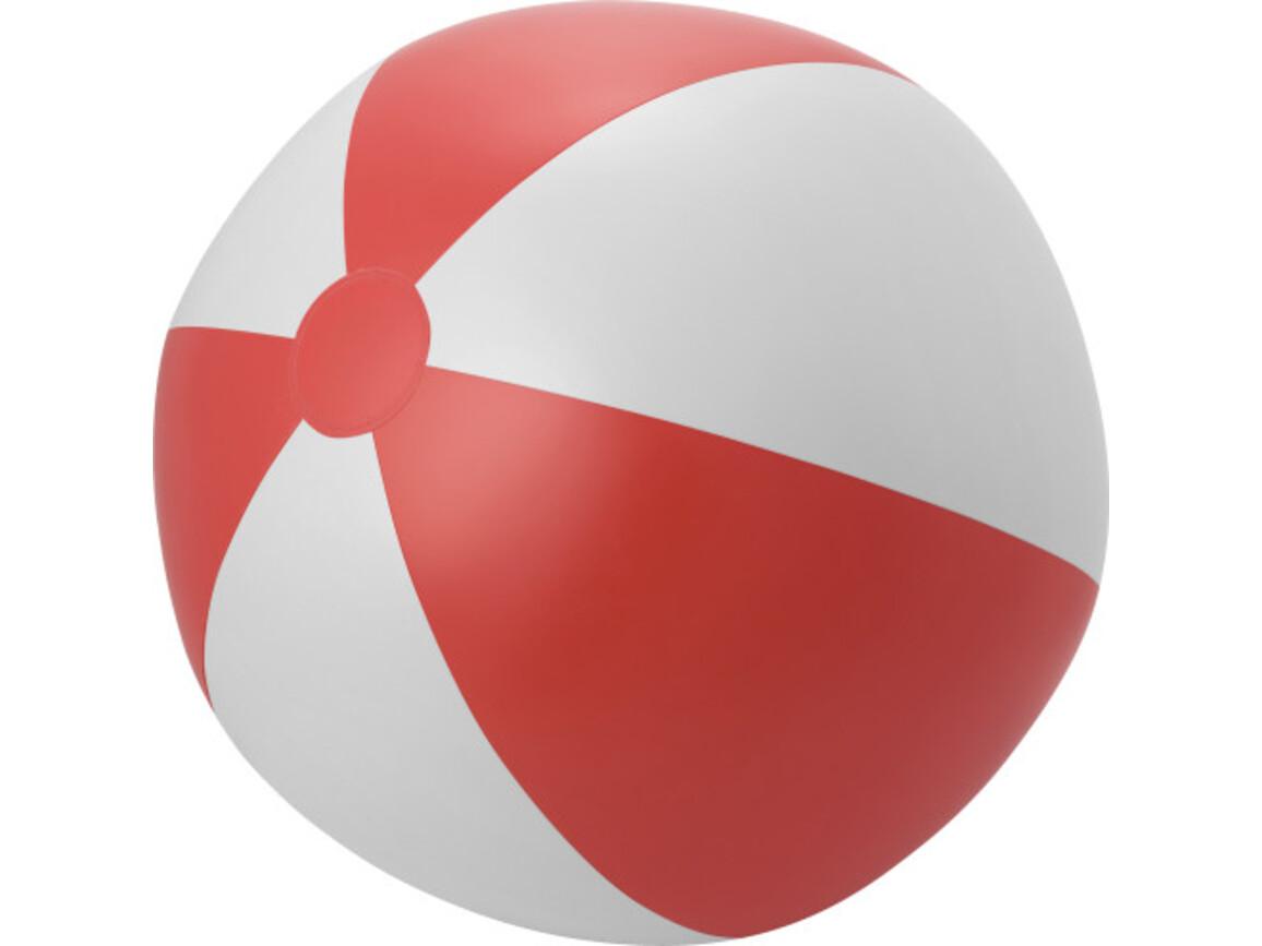 Aufblasbarer Wasserball 'XXL' aus PVC – Rot/Weiß bedrucken, Art.-Nr. 048999999_6537