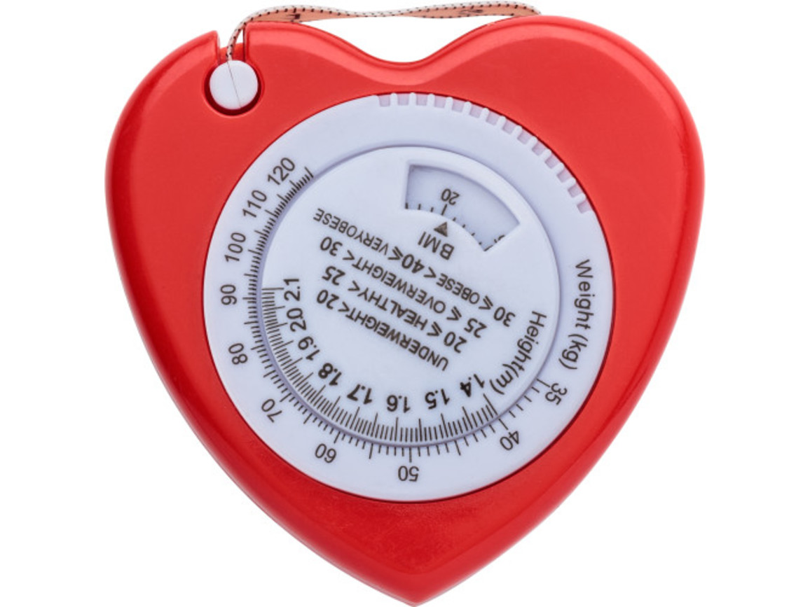 BMI Maßband 'Heart' – Rot bedrucken, Art.-Nr. 008999999_6559